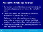 accept the challenge yourself