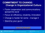 commitment to change change in organizational culture1