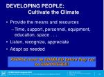 developing people cultivate the climate1