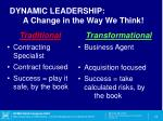 dynamic leadership a change in the way we think1