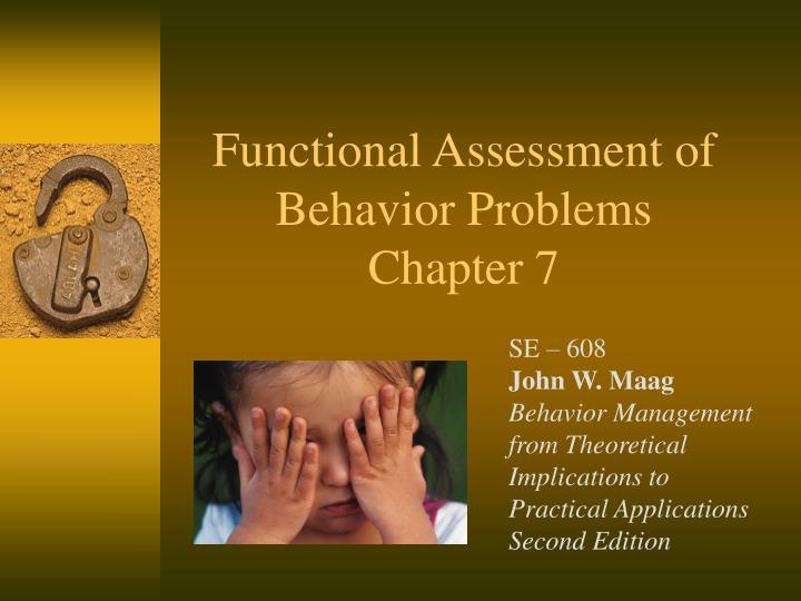 functional assessment of behavior problems chapter 7 n.