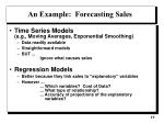 an example forecasting sales