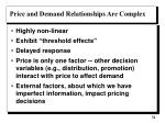 price and demand relationships are complex