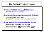 the product pricing problem