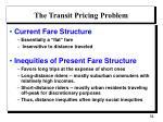 the transit pricing problem