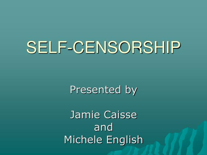 presented by jamie caisse and michele english n.