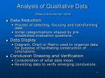 analysis of qualitative data miles and huberman 1994