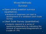 mixed methods surveys