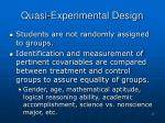 quasi experimental design