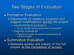 two stages of evaluation