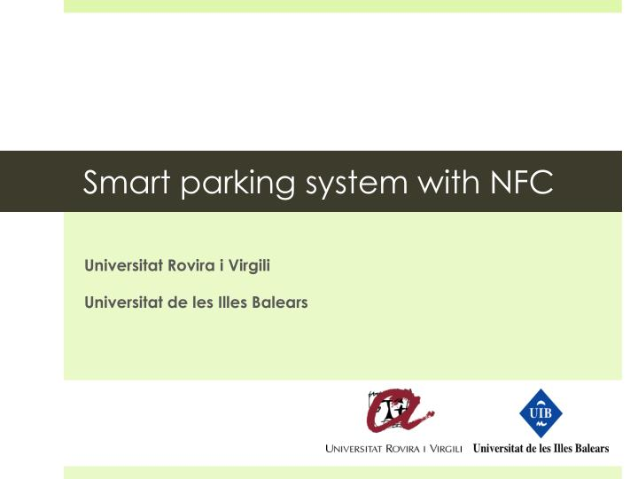 smart parking system with nfc n.