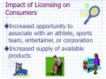 impact of licensing on consumers