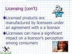 licensing con t1