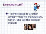licensing con t2
