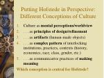 putting hofstede in perspective different conceptions of culture