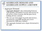 aggregate demand and aggregate supply a review
