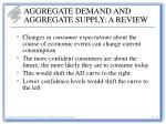aggregate demand and aggregate supply a review11