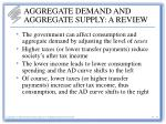 aggregate demand and aggregate supply a review13
