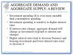 aggregate demand and aggregate supply a review14