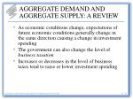 aggregate demand and aggregate supply a review15