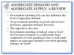 aggregate demand and aggregate supply a review16
