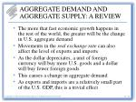 aggregate demand and aggregate supply a review18