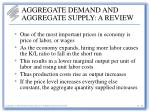 aggregate demand and aggregate supply a review24