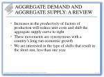 aggregate demand and aggregate supply a review28