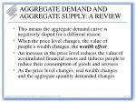 aggregate demand and aggregate supply a review4