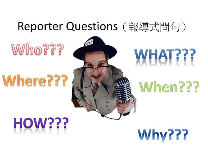 reporter questions n.