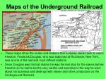 maps of the underground railroad