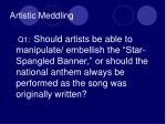 artistic meddling
