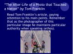 the after life of a photo that touched a nation by tom franklin