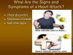 what are the signs and symptoms of a heart attack