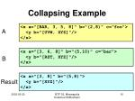 collapsing example