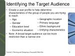 identifying the target audience