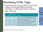 reviewing html tags