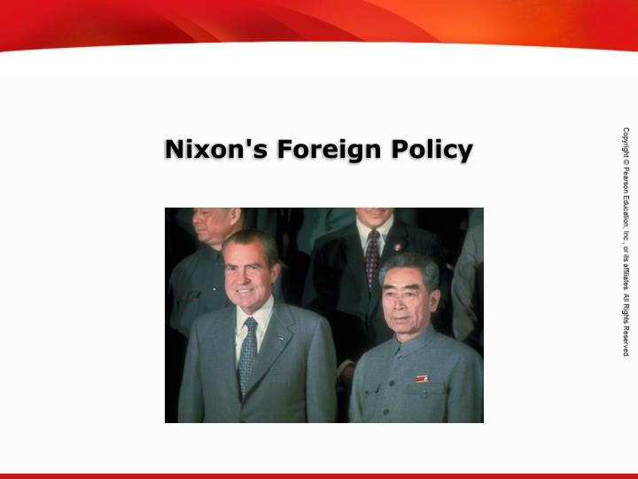 nixon s foreign policy n.