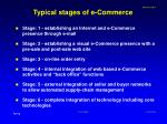 typical stages of e commerce