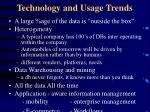 technology and usage trends