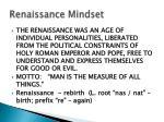 renaissance mindset