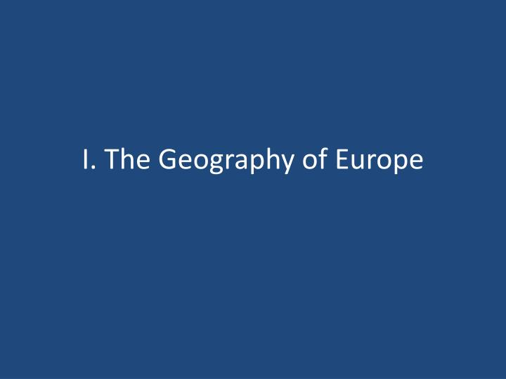 I the geography of europe
