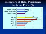 predictors of refill persistence in acute phase 1