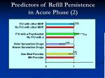 predictors of refill persistence in acute phase 2