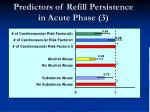 predictors of refill persistence in acute phase 3