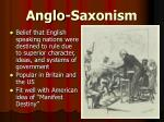 anglo saxonism