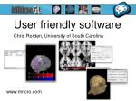 user friendly software