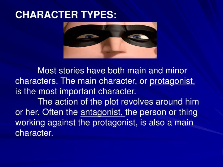 CHARACTER TYPES: