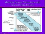 matching process alternatives with product characteristics