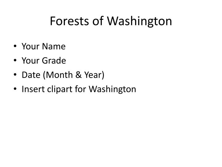 forests of washington n.